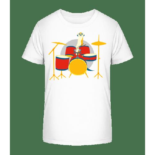 Erdmännchen am Schlagzeug - Kinder Premium Bio T-Shirt