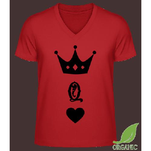 Dame Krone - Männer Bio V-Neck T-Shirt