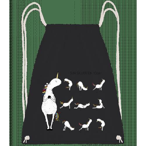 Yoga Einhorn Figuren Sonnengruß - Turnbeutel