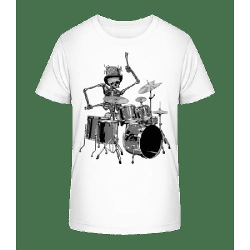 Schlagzeug Skelett - Kinder Premium Bio T-Shirt