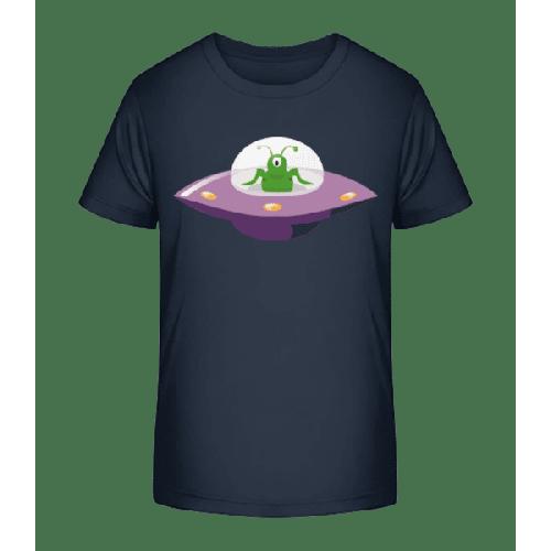 Alien In UFO - Kinder Premium Bio T-Shirt