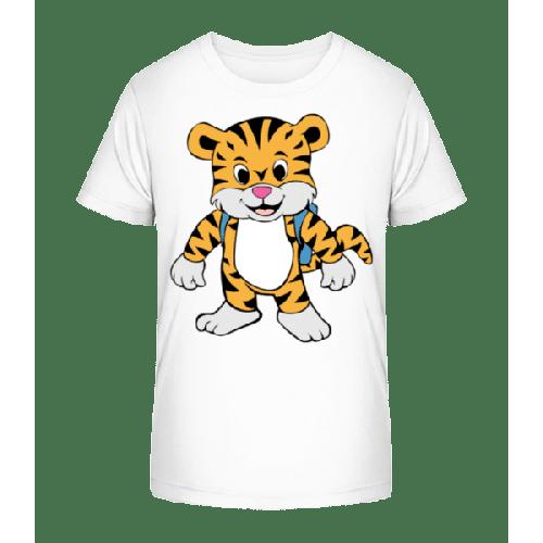 Süßer Tiger mit Rucksack - Kinder Premium Bio T-Shirt