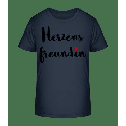 Herzens Freundin - Kinder Premium Bio T-Shirt