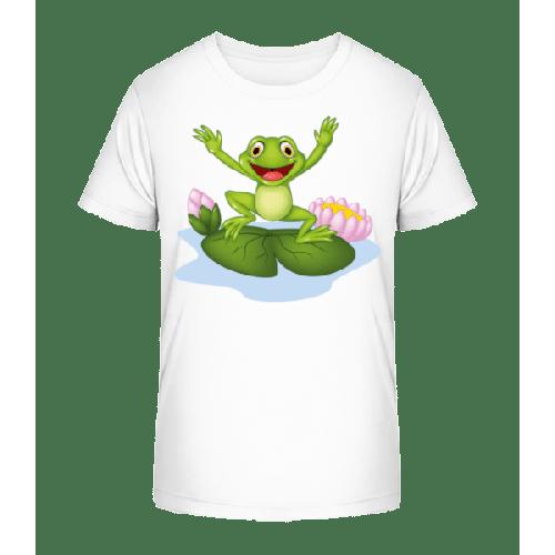 Frosch Auf Seerose - Kinder Premium Bio T-Shirt