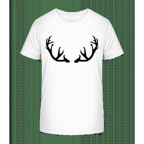 Hirschgeweih - Kinder Premium Bio T-Shirt