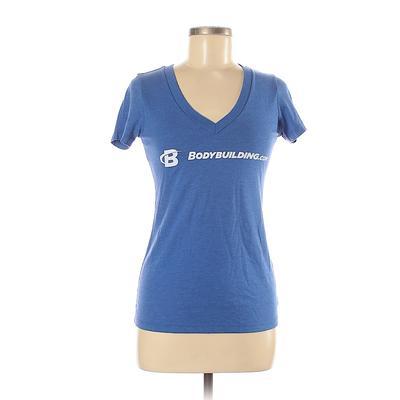 Bodybuilding.com Active T-Shirt: Blue Solid Activewear - Size Medium