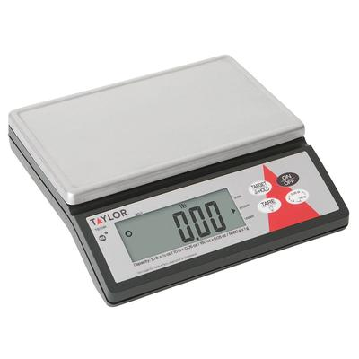 Taylor TE10R Scale, Electronic Portion Control, LCD, Tare, 10 lb, SS Platform