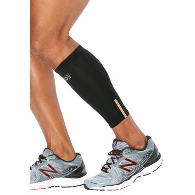 Men's Big & Tall Compression Calf Sleeves by Copper Fit in Black (Size 4XL/5XL)