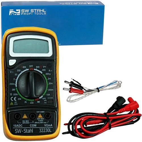 Sw-stahl Digital-multimeter Messgerät Acdc 500v Voltmeter Ohm Amperemeter 10a Sw-stahl: 32230l