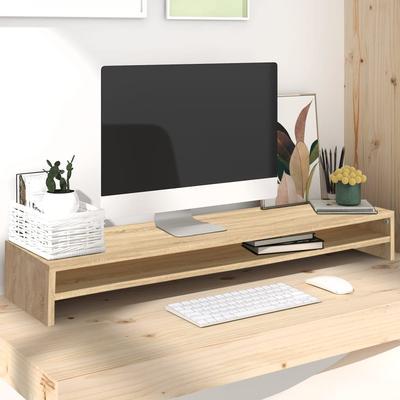 vidaXL Monitorständer Sonoma Eiche-Optik 100×24×13 cm Spanplatte