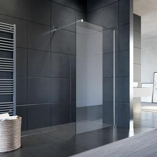 90x200cm Walk in Duschwand, NANO ESG 8mm, Duschtrennwand Glaswand mit Stabilisator