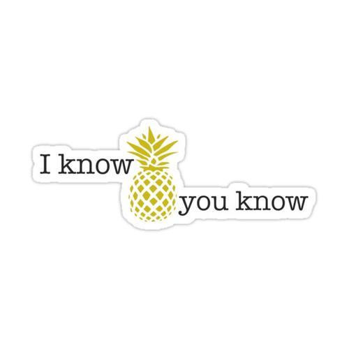 I Know You Know Sticker Sticker