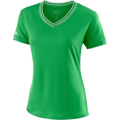 """""""WILSON Damen Tennisshirt \""""Team V-Neck\"""""""" Kurzarm"""""""", Größe M in ANDEAN TOUCAN"""""""