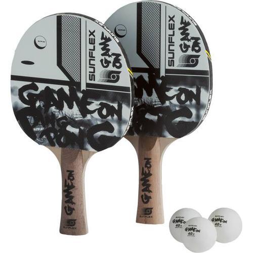 SUNFLEX Tischtennis-Set TT-SET GAME ON, Größe ONE SIZE in Schwarz/Weiß/Grau