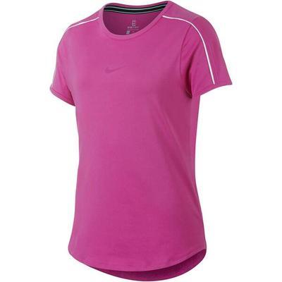 NIKE Mädchen Tennisshirt Dry Top Kurzarm, Größe M in Lila
