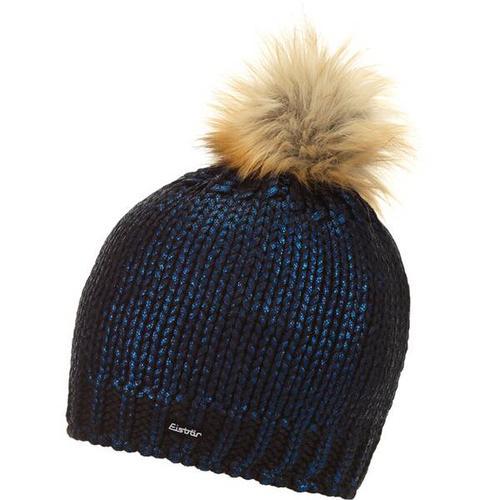 EISBÄR Damen Mütze Folina Lux, Größe ONE SIZE in schwarz-blitzblau-Folie