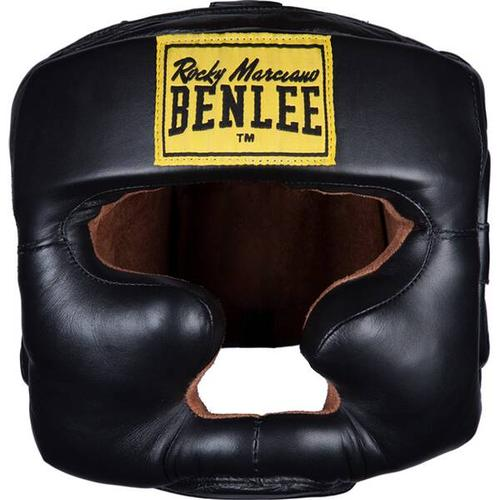 BENLEE Kopfschutz aus Leder FULL FACE PROTECTION, Größe S-M in Black
