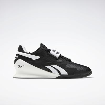 Reebok Men's Legacy Lifter II Weightlifting Shoes in Black/White/True Grey 7 Size 14 - Cross Training,Training Shoes