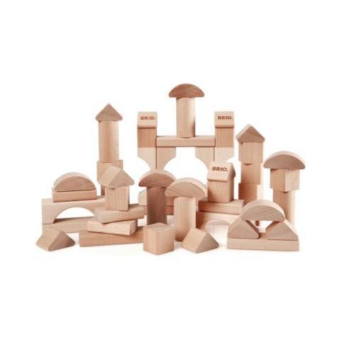 Natur Holzbausteine, 50 Teile
