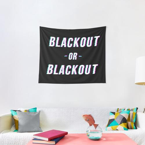 Blackout Or BlackOut Wall Tapestry