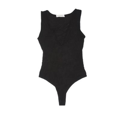 Stella Luce Bodysuit: Black Solid Clothing - Size Small