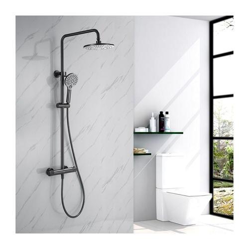 Homelody - Dusche Duschsystem mit Thermostat, 2 Funktionen Duschset Regendusche inkl. Edelstahl