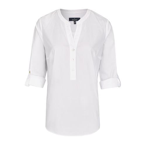 Daniel Hechter Moderne Bluse mit tunesischem Ausschnitt weiß Damen Schlupfblusen Blusen Tuniken