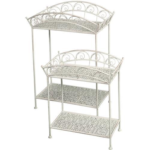 Ambiente Haus Beistelltisch, (Set, 2 St.) weiß Beistelltische Tische Beistelltisch