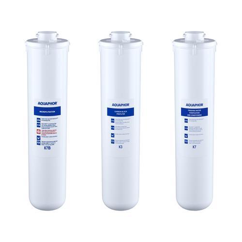 Aquaphor Aktivkohlefilter Wasser - Ersatzfilterset für CRYSTAL B ECO und FOUNTAIN WATER DISTRIBUTOR CRISTAL B ECO FILTERS