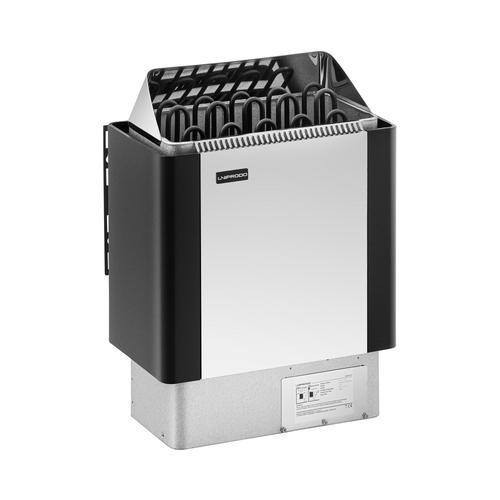 Uniprodo Saunaofen - 9 kW - 30 bis 110 °C - Edelstahlblende UNI_SAUNA_BS9.0KW