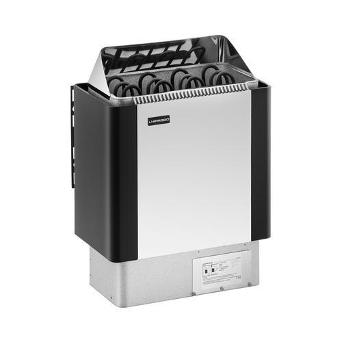 Uniprodo Saunaofen - 6 kW - 30 bis 110 °C - Edelstahlblende UNI_SAUNA_BS6.0KW