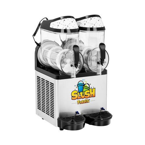 Royal Catering Slush-Maschine - 2 x 10 l - LED RCSL 2/10