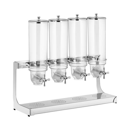 Royal Catering Müslispender - 4 x 3,5 l - 4 Behälter RCCS-3.5LSS4