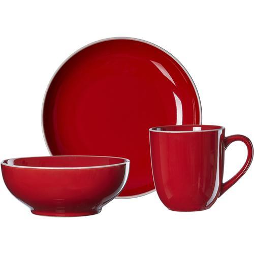 Ritzenhoff & Breker Frühstücks-Geschirrset Linus, (Set, 3 tlg.) rot Frühstücksset Eierbecher Geschirr, Porzellan Tischaccessoires Haushaltswaren