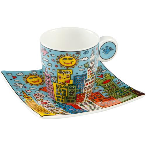 Goebel Espressotasse City Day bunt Becher Tassen Geschirr, Porzellan Tischaccessoires Haushaltswaren