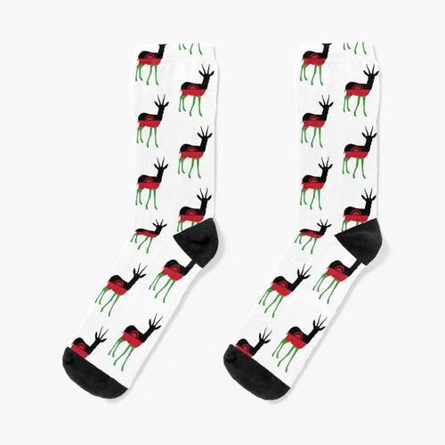 Gazelle Flagge von Malawi Socken