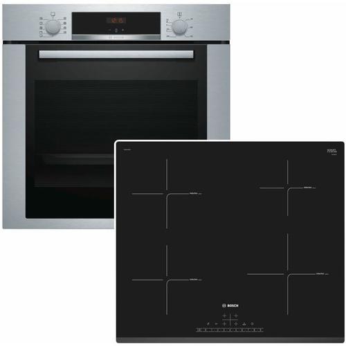 Bosch Backofen-Set HBA3140S0 mit Induktions-Kochfeld PUE631BB2E