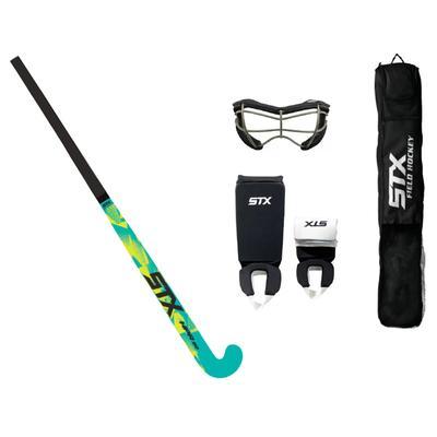 STX Field Hockey Junior Starter Package Black/Yellow/Teal