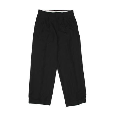 Delmanio Boy's Wear Dress Pants: Black Bottoms - Size 10
