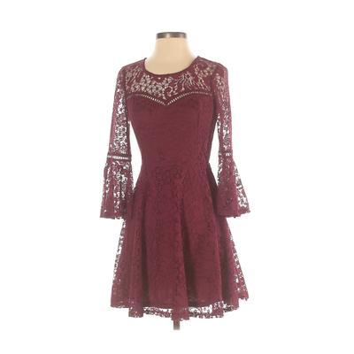 BCX dress Cocktail Dress - A-Line: Burgundy Dresses - Used - Size 5