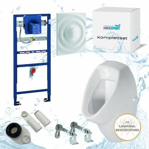 Grohe Rapid SL + Marken Urinal + Drückerplatte + Siphon + Beschichtung Komplett-Set