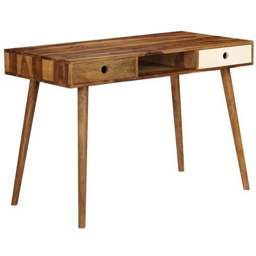 Hommoo Schreibtisch 110 x 55 x 76 cm Sheeshamholz Massiv VD12159