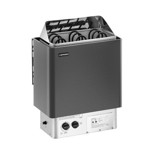 Uniprodo Saunaofen - 4,5 kW - 30 bis 110 °C - inkl. Steuerung UNI_SAUNA_B4.5KW