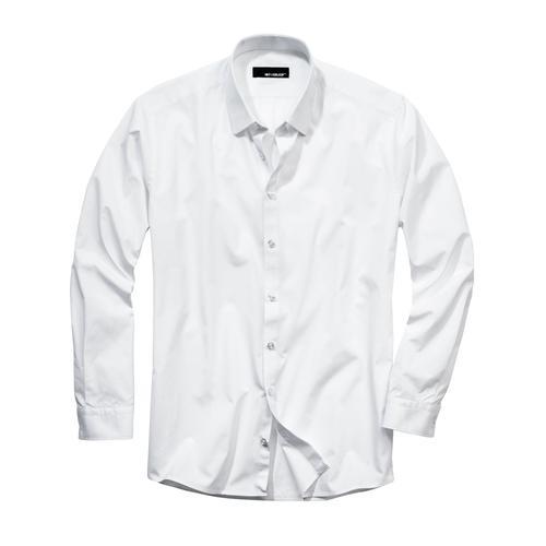 Mey & Edlich Herren Hemd Brot-Butter-Businesshemd weiß 40, 41, 42, 43, 44, 45, 46