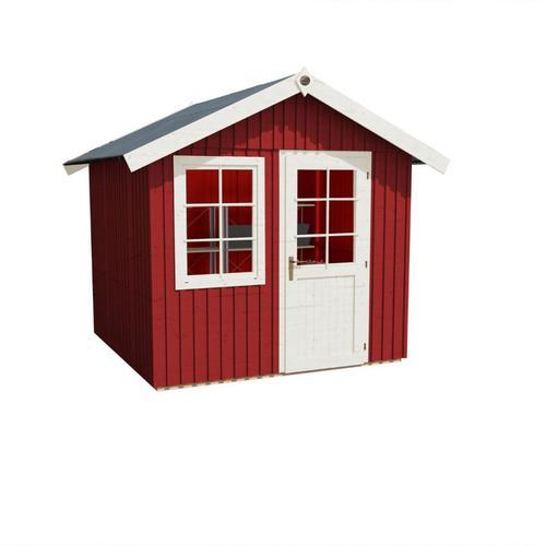 weka Gerätehaus Schwedenhaus 410 schwedenrot Geräteschuppen, 299x295 cm