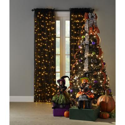 6' Pre-Lit Halloween Pop-Up Tree by BrylaneHome in Black