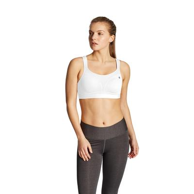 Plus Size Women's Spot Comfort Sports Bra by Champion in White (Size 34 D)