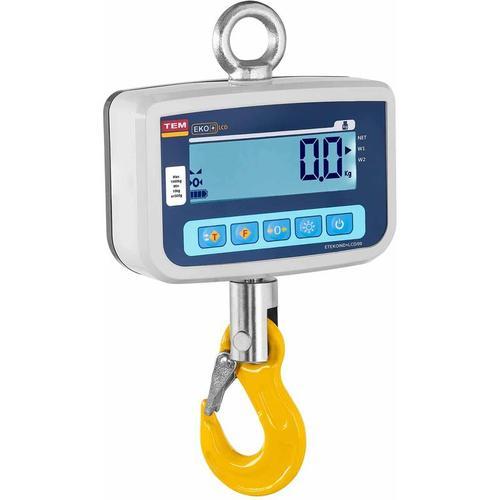 TEM - Kranwaage Hängewaage 1000 Kg 500 G Lastenwaage Industriewaage Waage LCD