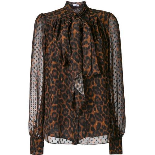Erdem Bluse mit Leopardenmuster