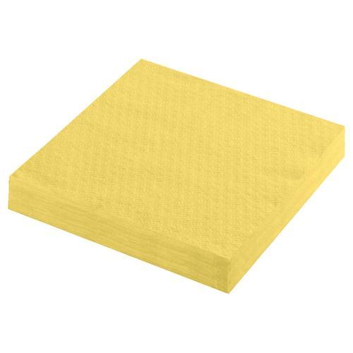 5000x Servietten Prägeservietten 1-lagig 33 x 33 cm gelb